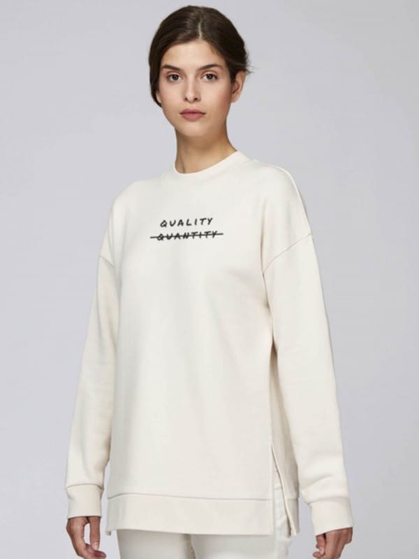 Organic cotton sweatshirt-Quantity