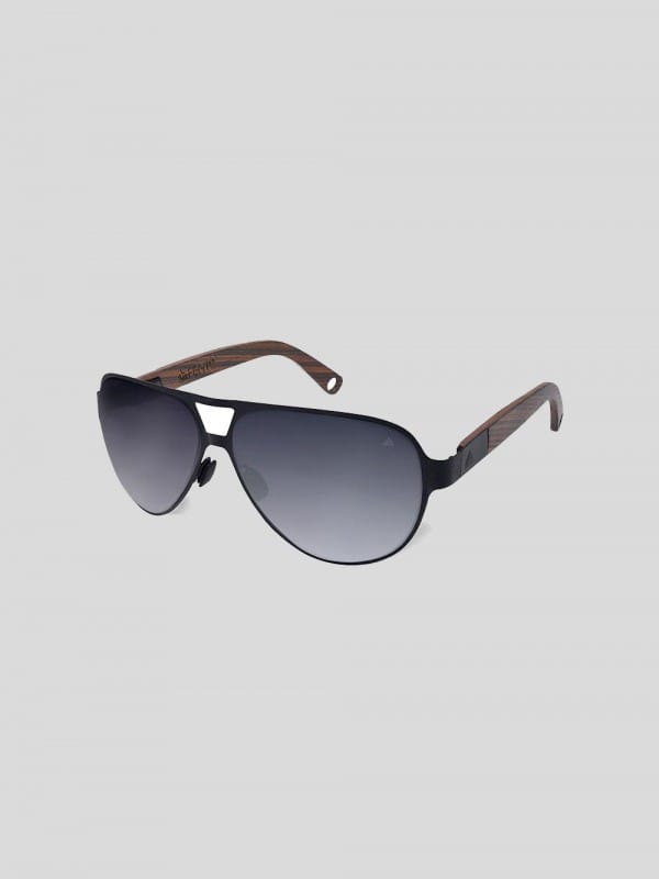 Sustainable sun glasses steel and wood-Kabeli