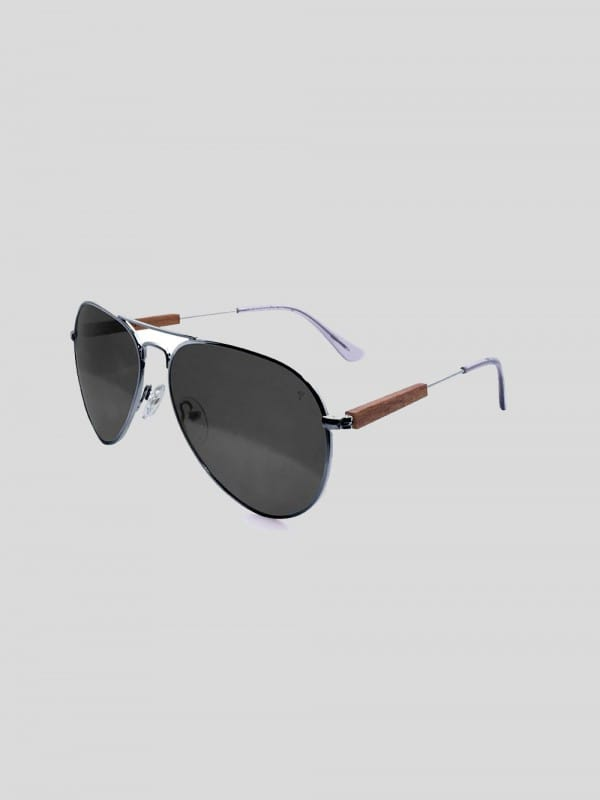 Sustainable Sun glasses Steel and Wood-Chopper