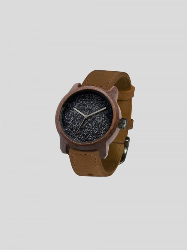 Handmade watch made silicio and wood-Marco