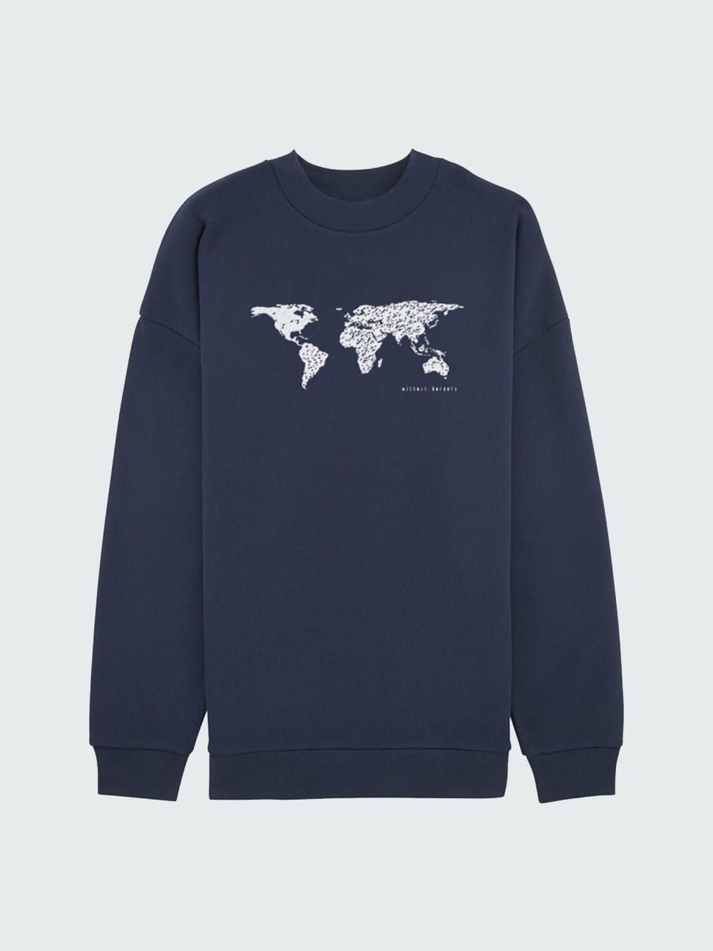 Organic cotton sweatshirt-Borders