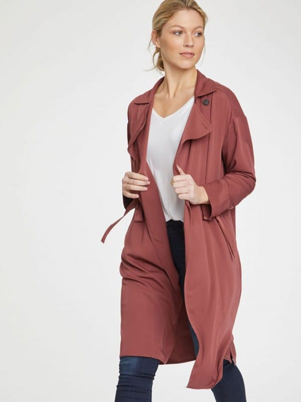 Trench coat made of bamboo viscose -thyra