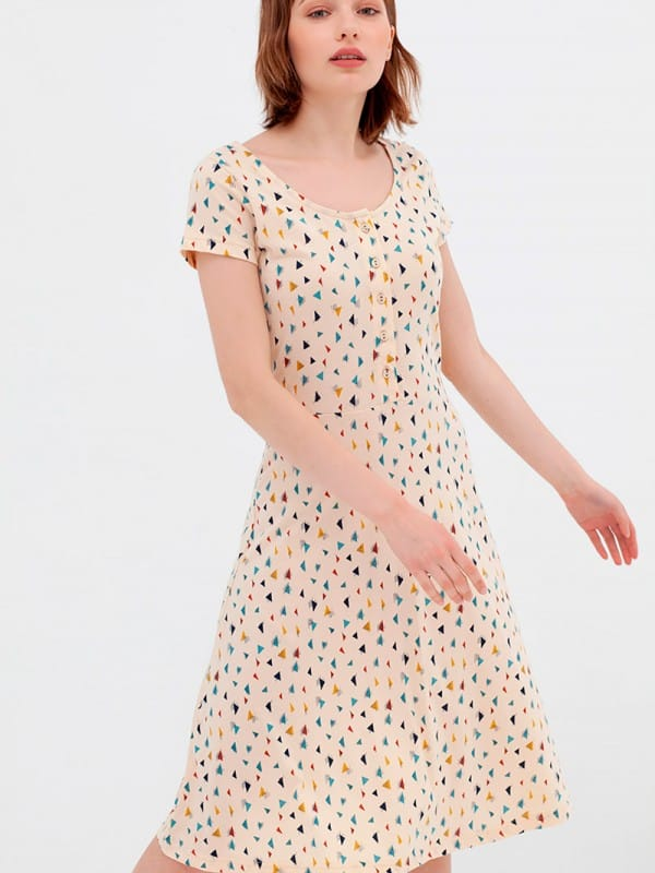 Organic cotton half-layer dress nico-Ara