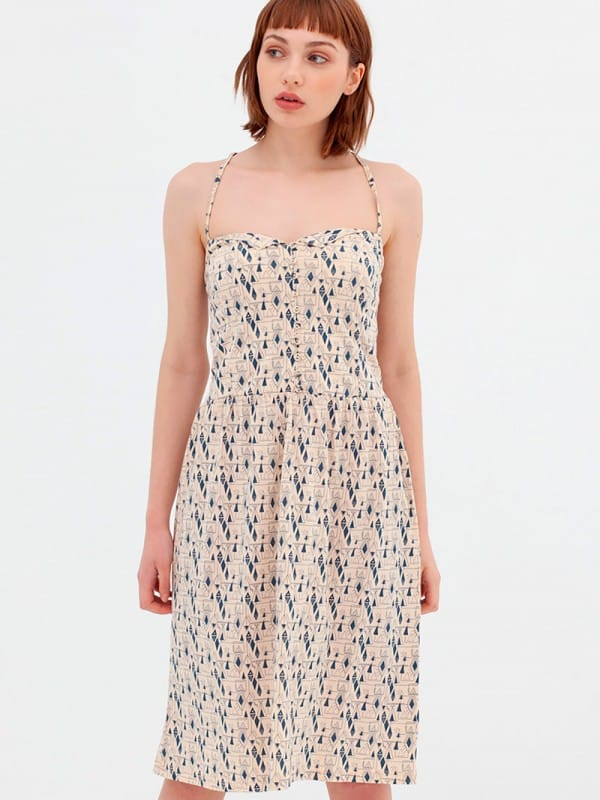Organic cotton strap dress Nico-Adara