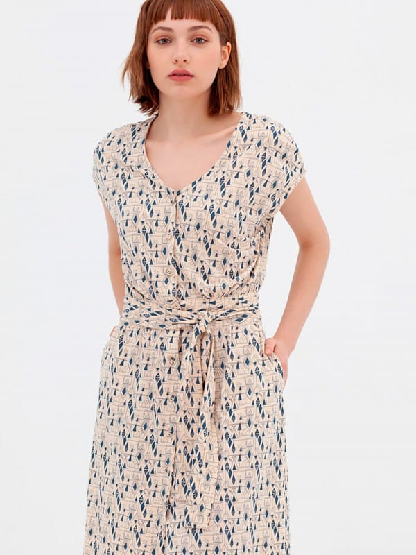 Short sleeve cotton dress organic n-Amy