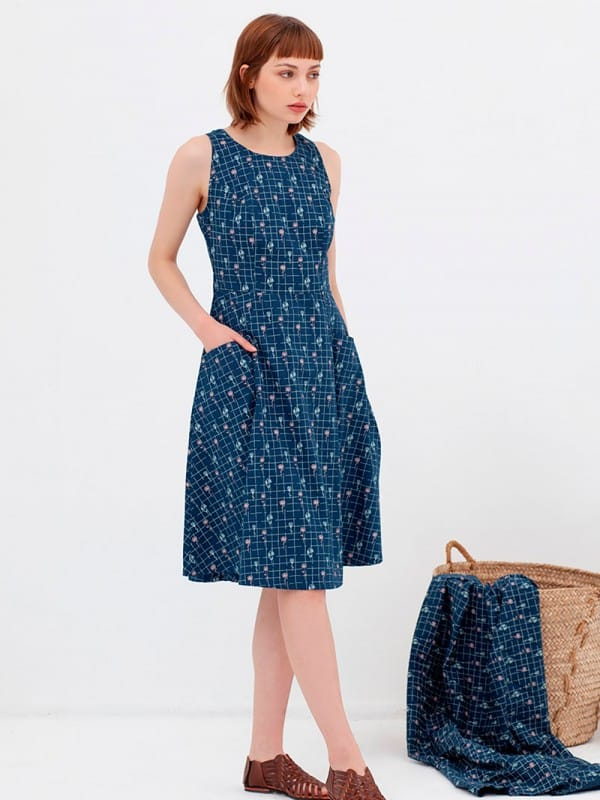 Organic cotton cross back dress nico-Aitana