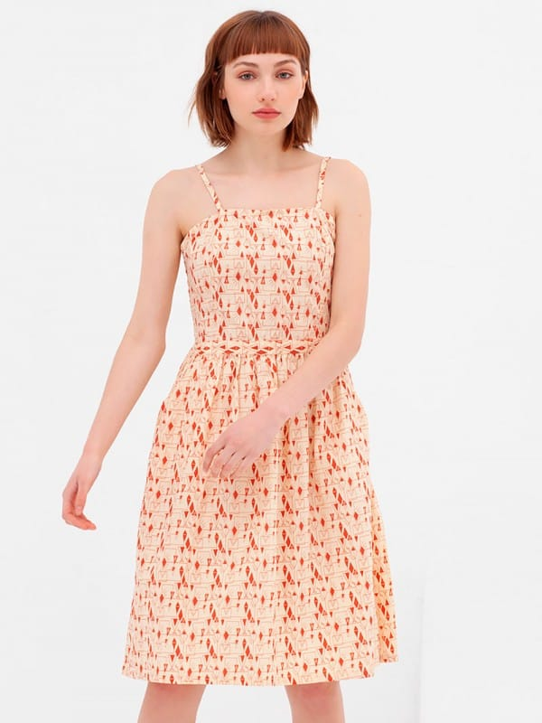 Cotton dress in organic cotton Nico-Ada