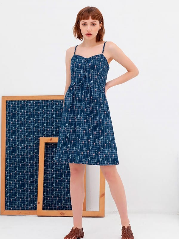 Cotton dress organic cotton nico-Ainara