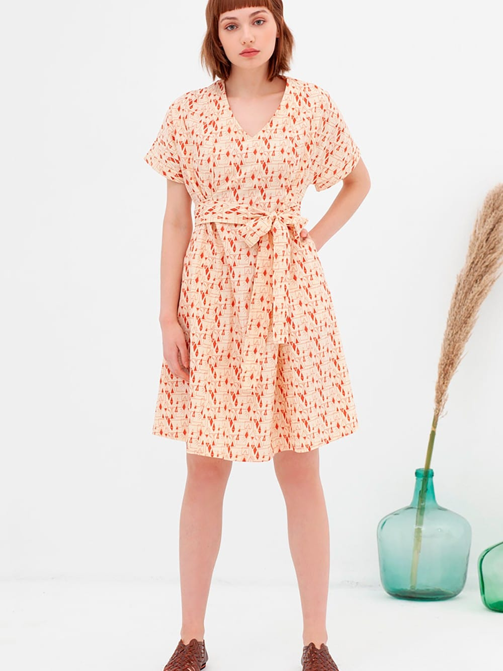 Japanese cotton dress organic cotton Nico-Amaya
