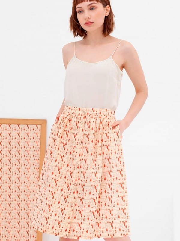 Organic cotton midi skirt nico-Adaya