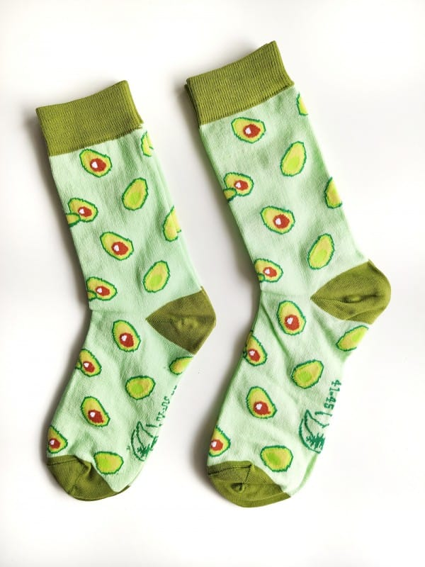 Ecological Ecologic socks unisex-Avocado
