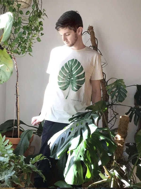 Organic cotton t-shirt-monstera