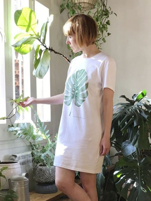 Organic cotton dress-monstera
