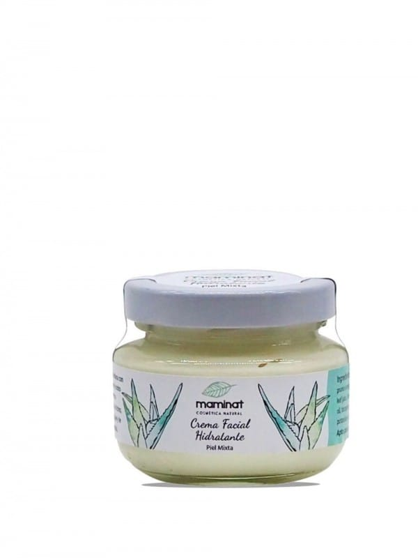 Natural facial cream for combination skin