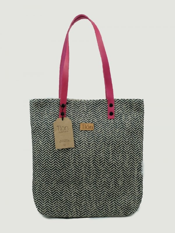 Organic Cotton Raffia and Orbis Live tote bag