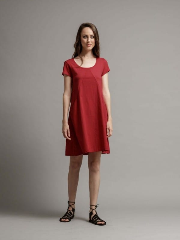 Organic cotton short dress-Rosemary