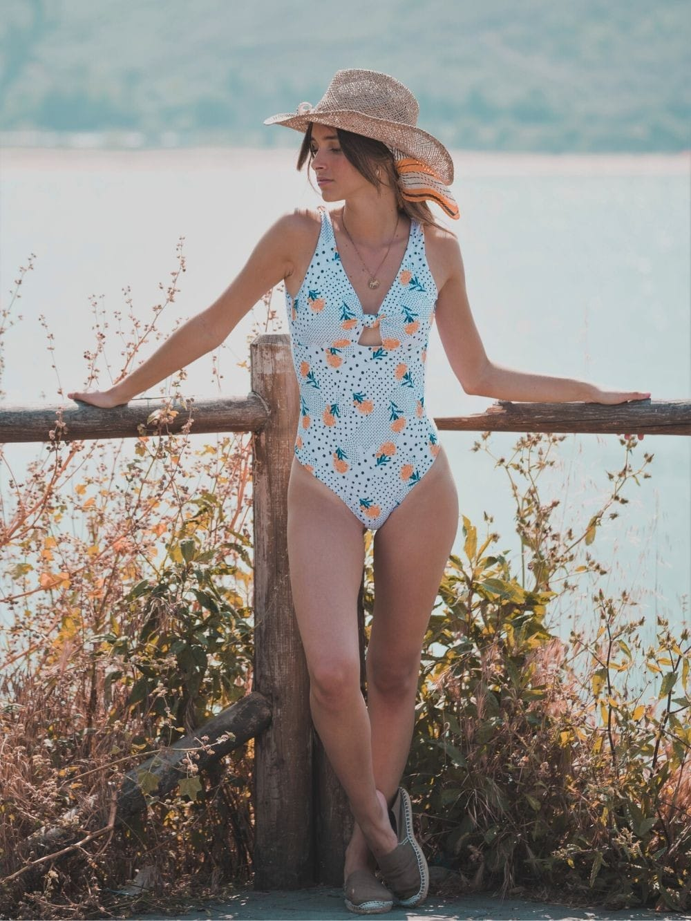 Sustainable swimsuit from recycled materials-Islares Flores