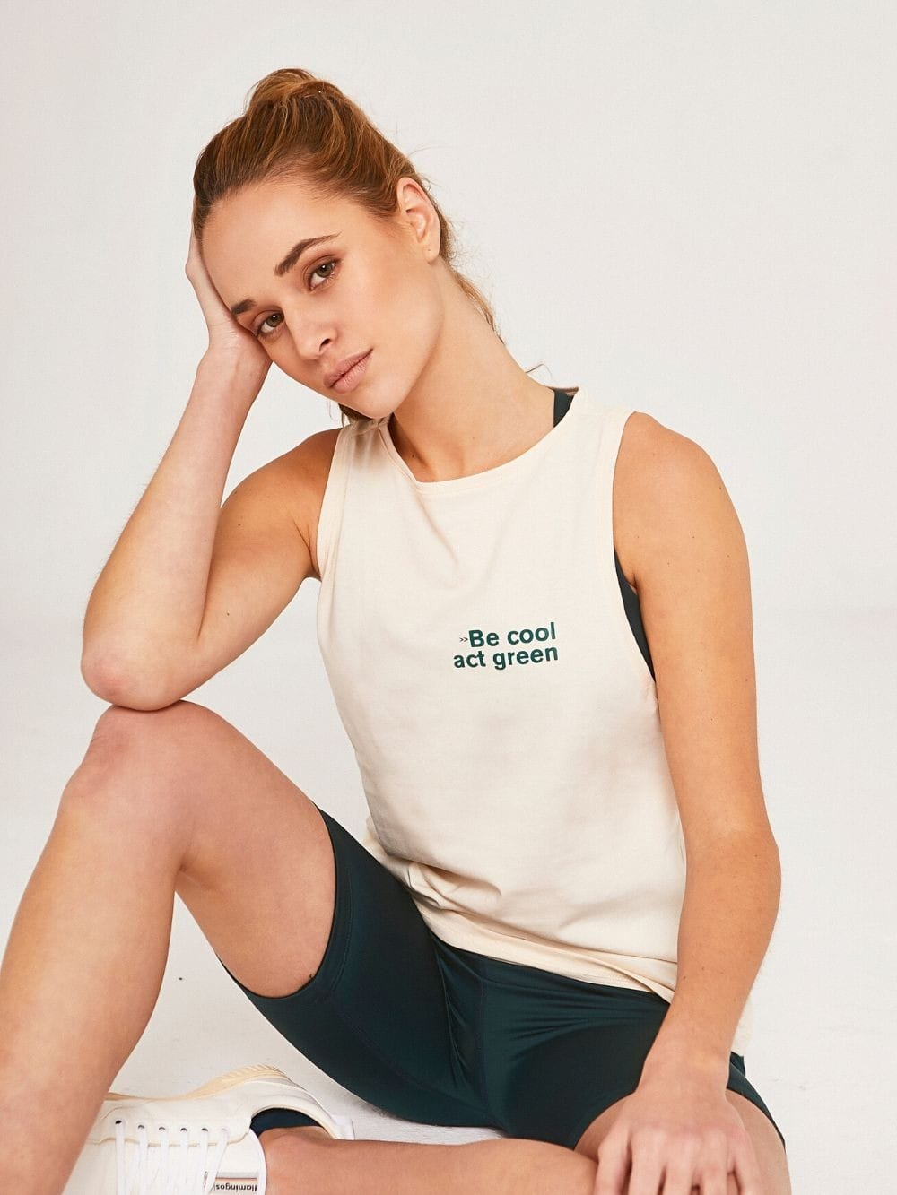 Sustainable Organic Cotton Tank Top-Act green