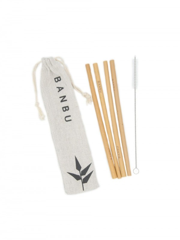 Pack of zero waste bamboo straws