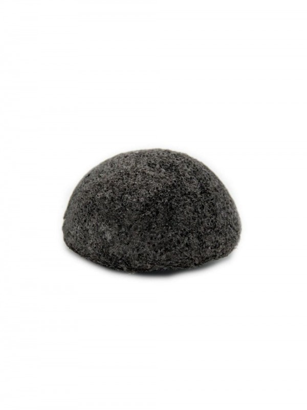 Exfoliating sponge with bamboo charcoal