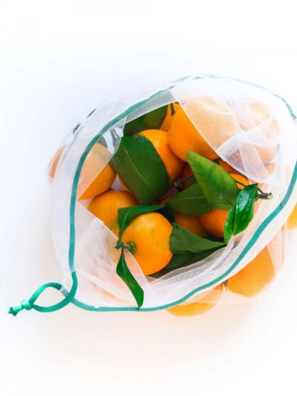 Set of 4 eco mesh bags for fruit and vegetables