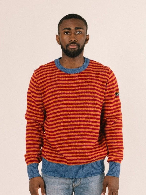 Striped pullover made from recycled materials-Truth