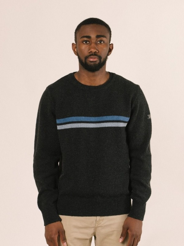 Striped Recycled Material Sweater-Lewis