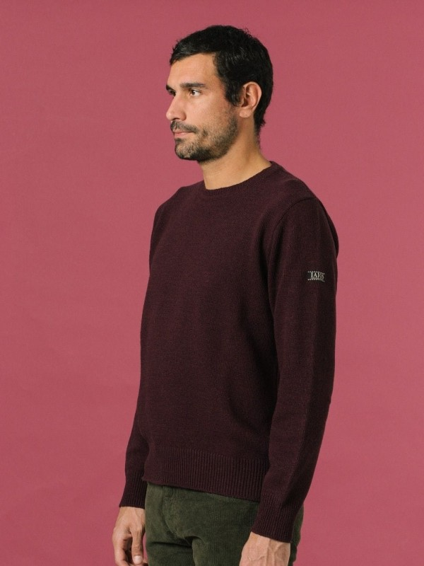 Plain sweater made from recycled materials-Kapuscinski