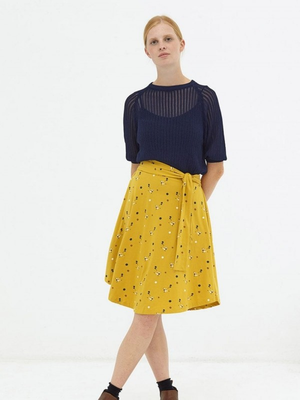 Organic cotton half-layer skirt-Denia