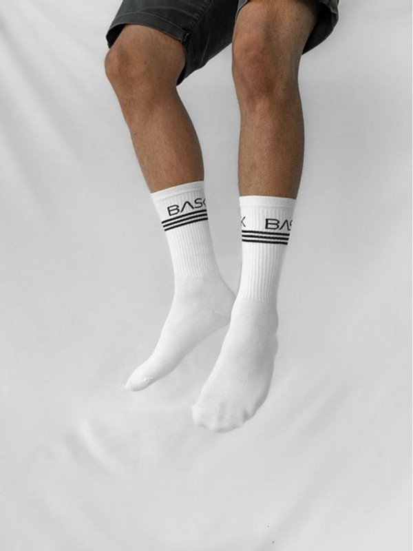 Organic Cotton Socks-Socks White Lines