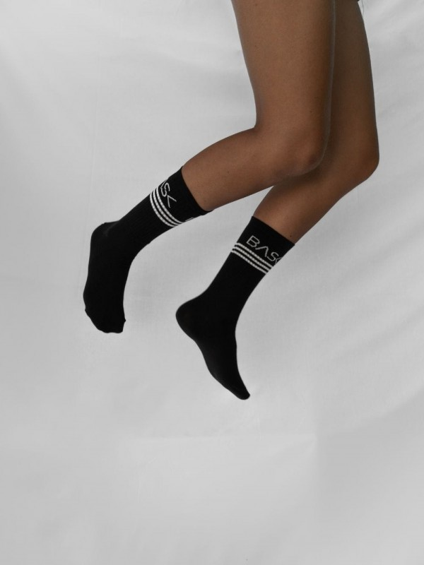 Organic Cotton Socks-Socks Black Lines