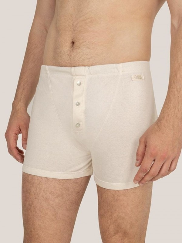 Organic cotton button boxer