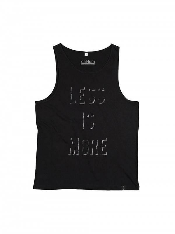 Camiseta sin mangas unisex - Less is More