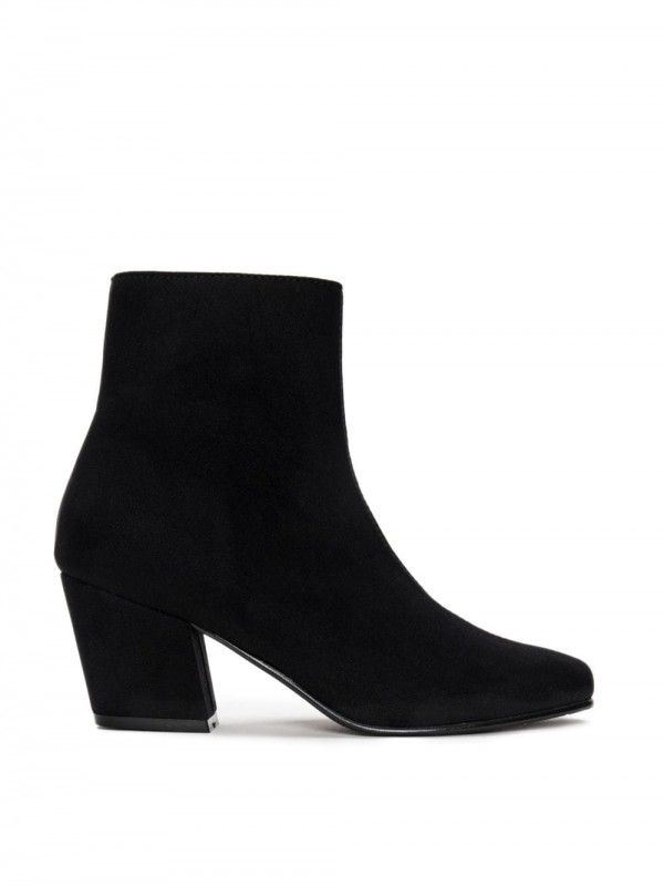 Vegan bootie with wide heel-Jeanne