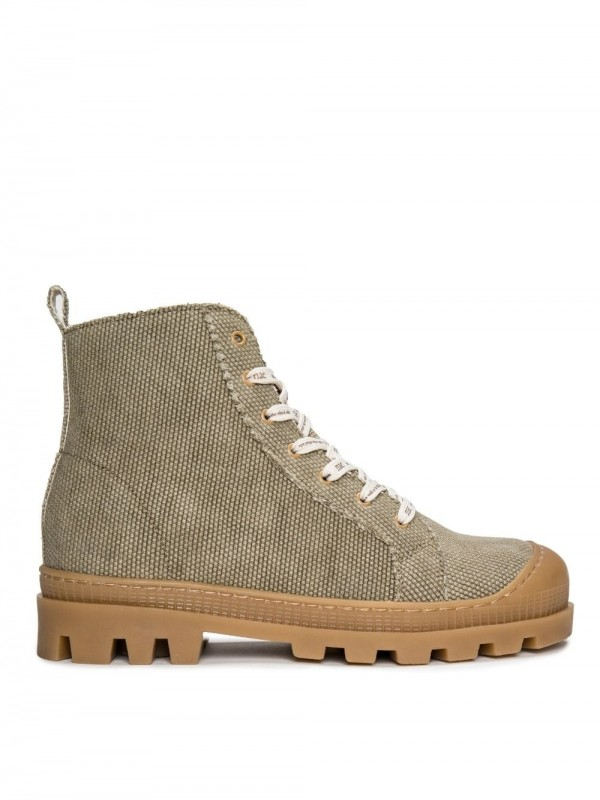 Vegan high-top boot sneaker-Noah Organic Green