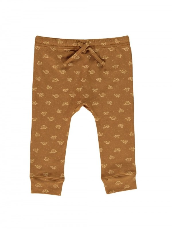 Organic cotton baby pants-Brown bikes