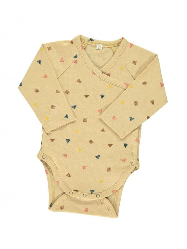 Organic cotton bodysuit-Triangles