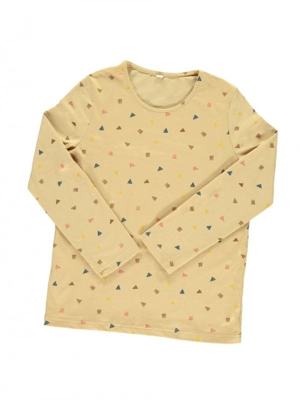 Organic cotton t-shirt-Triangles