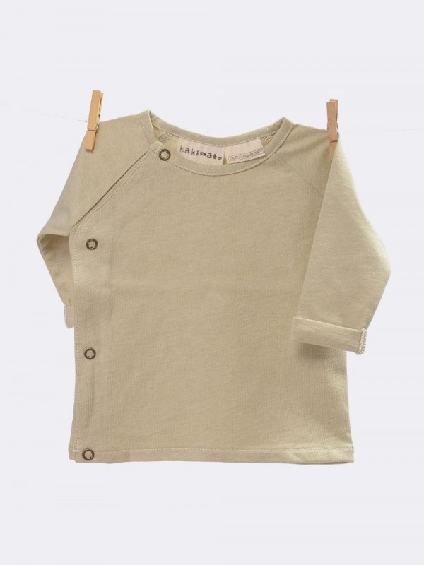 Organic cotton double-breasted sweater-Green