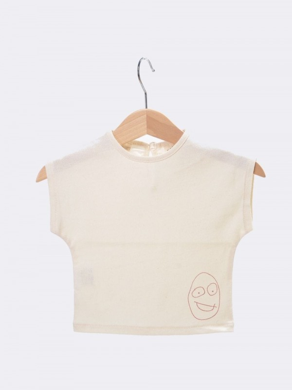 Organic cotton short sleeve T-shirt-Cru