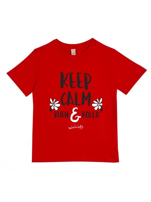 Organic Cotton T-Shirt-KeepCalm Red