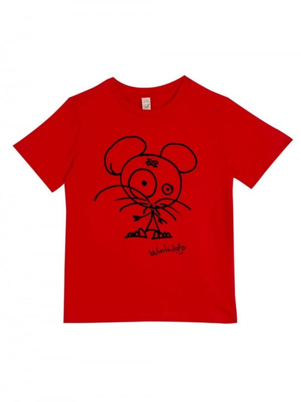 Organic cotton T-shirt-Little Red Mouse