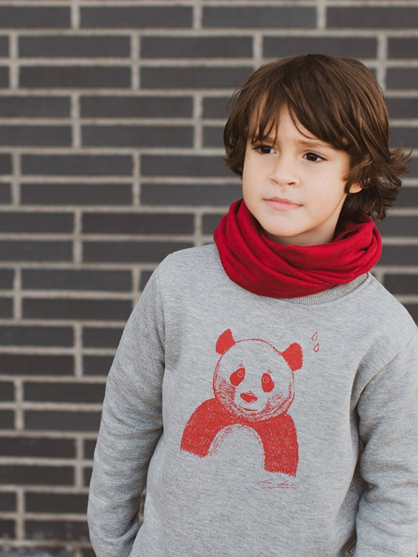 Panda organic cotton sweatshirt