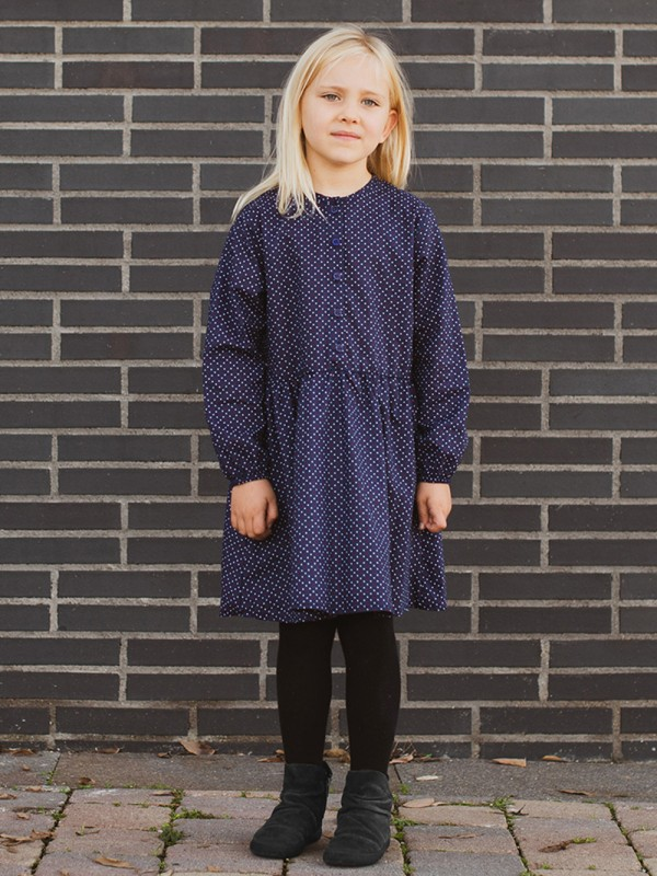 Organic cotton mini polka dot dress