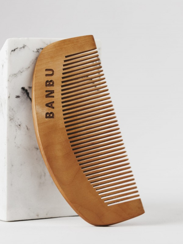 Biodegradable bamboo comb