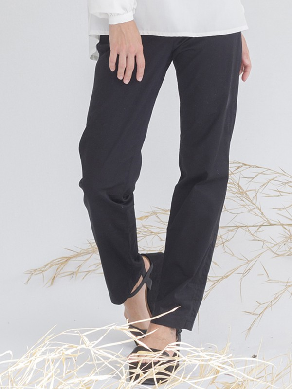 Black organic cotton pants-Balta