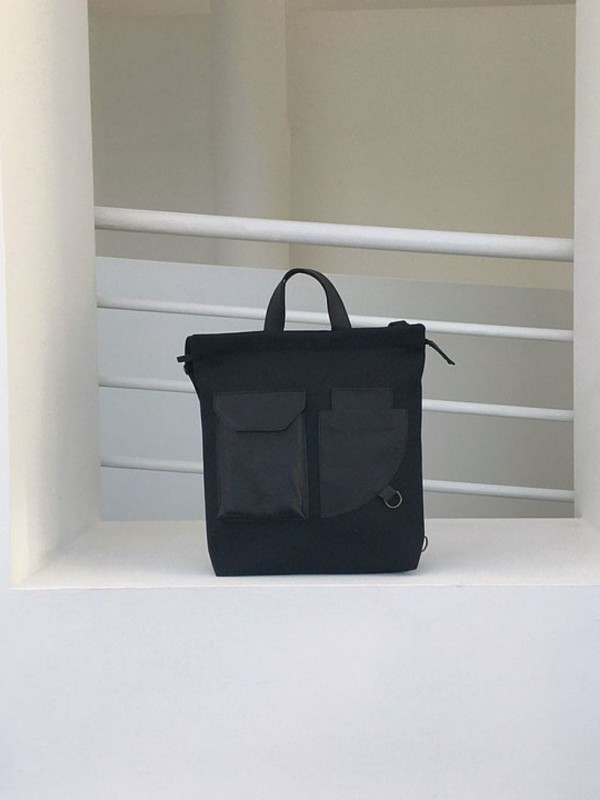 Recycled fabric backpack made in Barcelona
