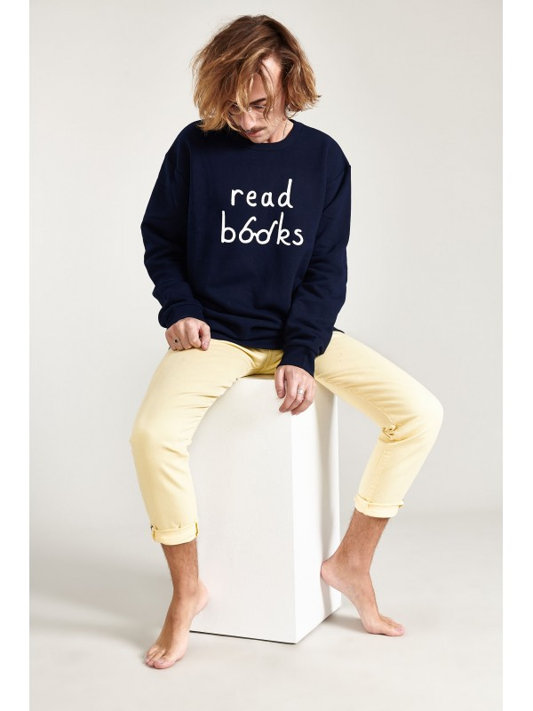 Organic cotton sweatshirt-Read Books