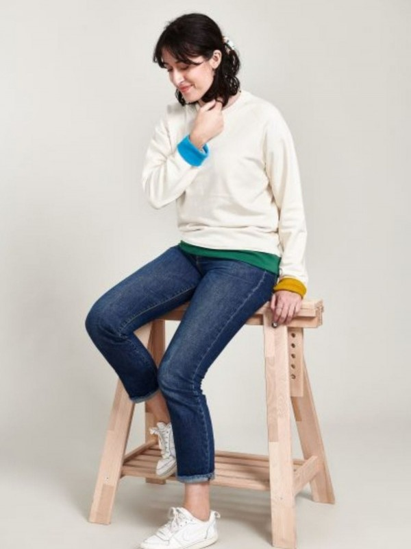 Organic Cotton Unisex Sweatshirt- Colorful Cluffs