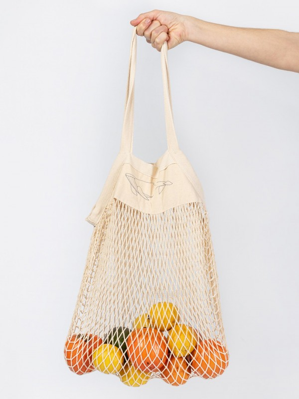 Organic cotton net bag-Free The Whales